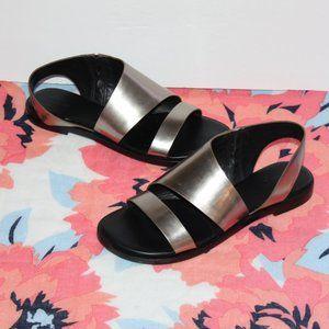 All saints silver sandals Pewter Women 39 = US 9